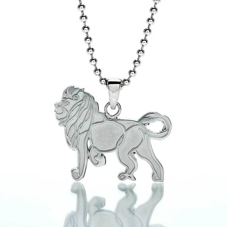 'Lion' Sterling Silver Pendant