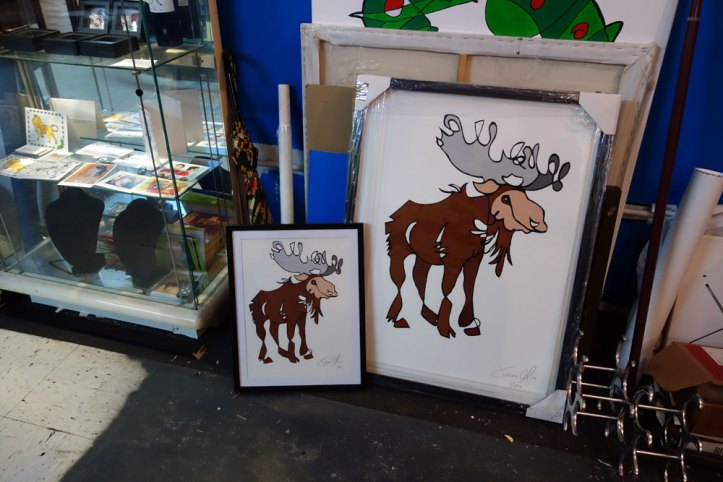 Work on paper Moose small and large Jason Oliva