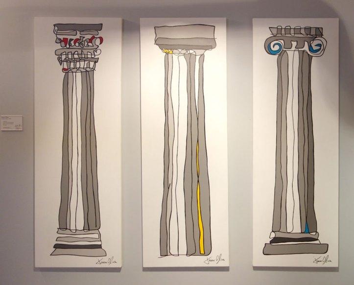 Columns-Ionic-Doric-COrinthian-2013-painting-jason-Oliva