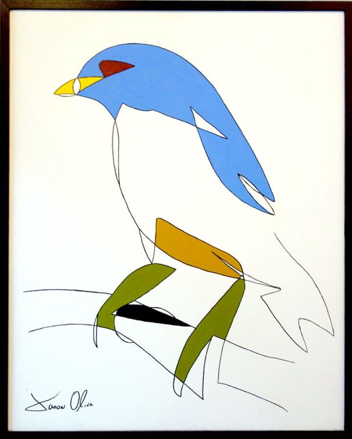painting-Jason-Oliva-Bird-on-Branch-2010-