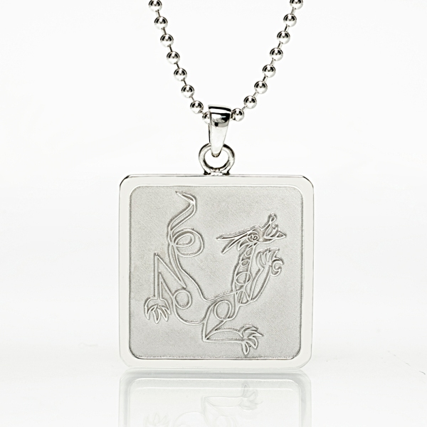 Dragon Sterling silver pendant Jason Oliva