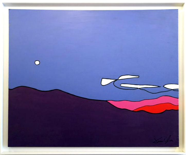 Painting jason Oliva landscape with moon