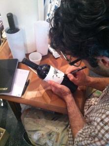 Wine Jason Oliva signing Stripey Horse