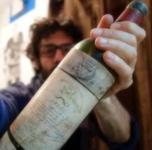 Artist wine labels Chateau Mouton Rothschild 1945jason oliva