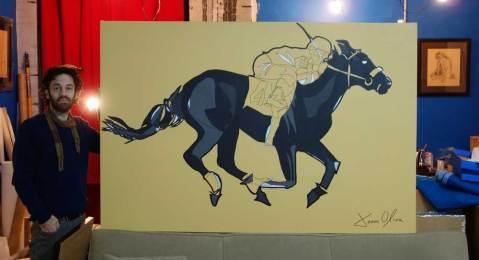 Racehorse portraits jason oliva paintings