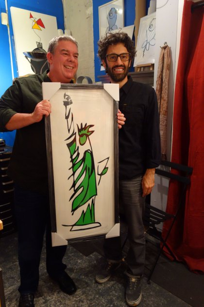 Elvis Duran Jason Oliva open studio Statue of Liberty