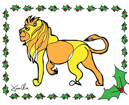 Holiday Card Jason Oliva Lion Christmas Card