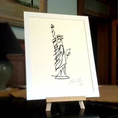 Jason-oliva-small-white-statue-of-liberty-on-paper