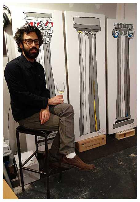 Column paintings studio jason oliva-Doric-Corinthian-Ionic