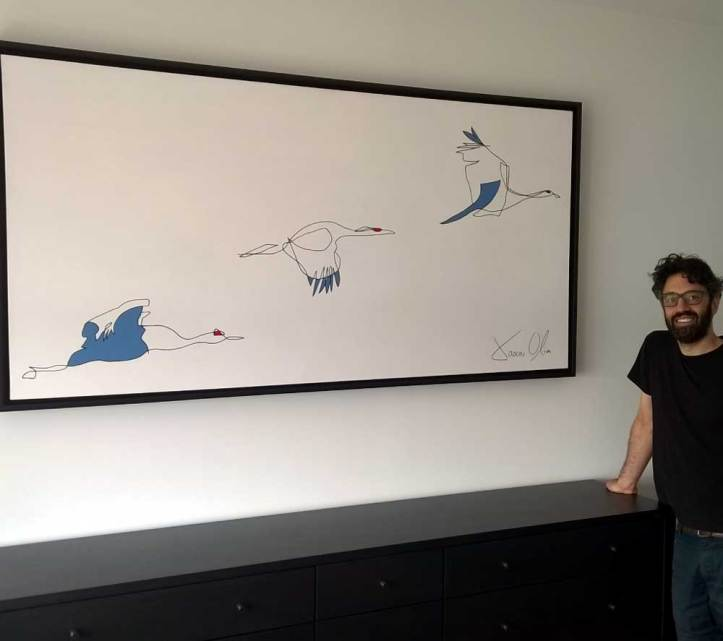 Seabirds Jason Oliva Painting