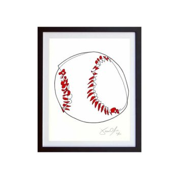 Baseball. Small Work on Paper. Limited Edition of 100.