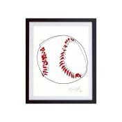 Baseball-Color-framed-small-work-on-paper-jason-oliva
