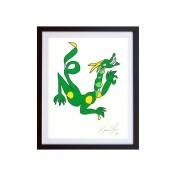 Dragon-Color-framed-small-work-on-paper-jason-oliva