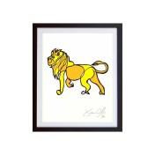 Lion-Color-framed-small-work-on-paper-jason-oliva