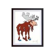 Moose-Color-framed-small-work-on-paper-jason-oliva