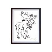 Moose-White-framed-small-work-on-paper-jason-oliva