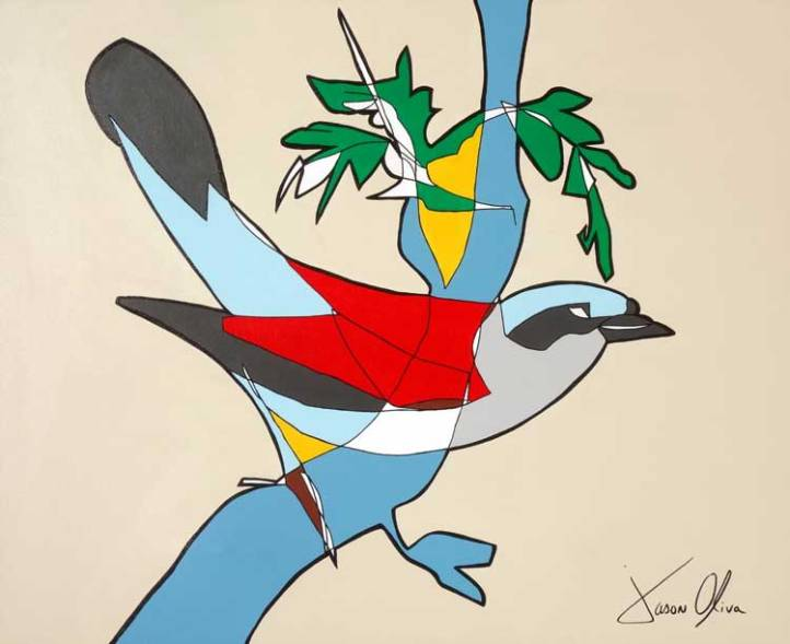 Red Backed Shrike 2015 painting by Jason Oliva