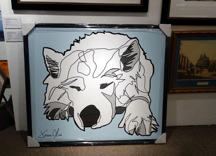 Lumi Dog Portrait after framing by Jason Oliva