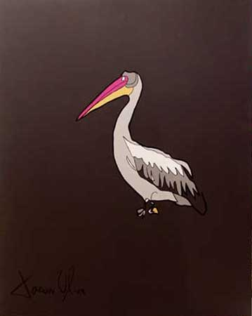 Pelican 2014 Acrylic on canvas painting by Jason Oliva