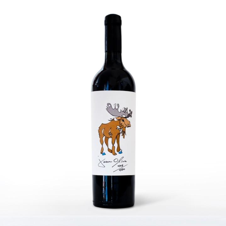 jason moose bottle on white w blue reflection