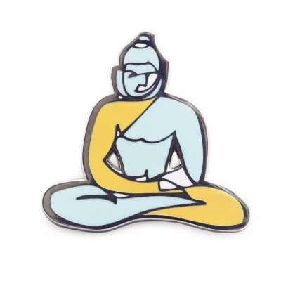Buddha enamel lapel pin by jason oliva