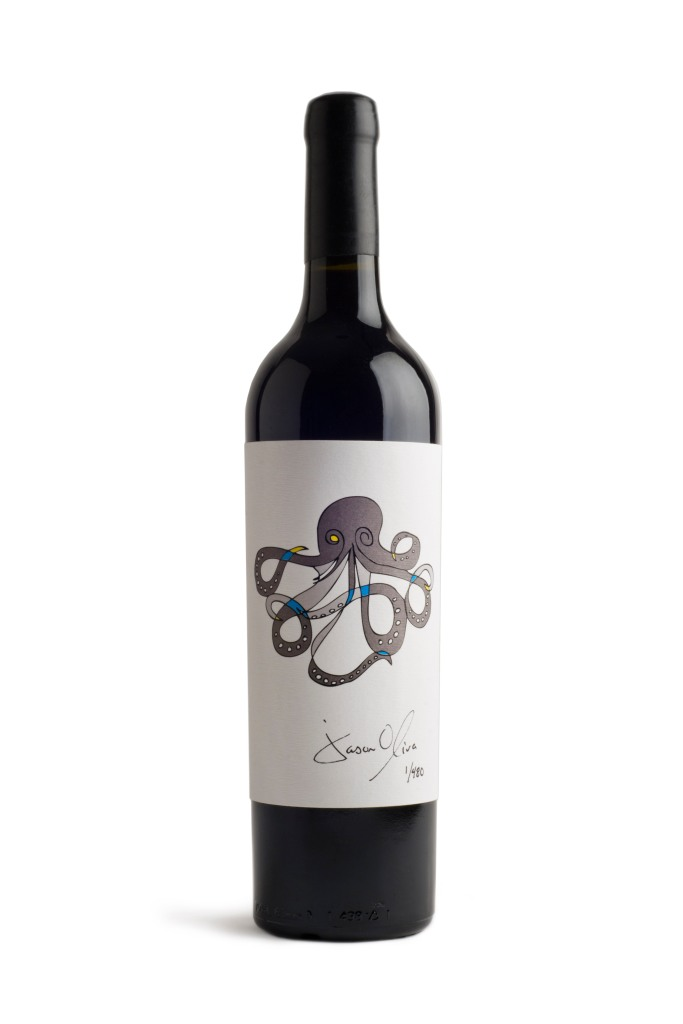 Jason Oliva Wine Octopus 2010 is the 4th release in the ABC series (O) there will only ever be 26 vintages